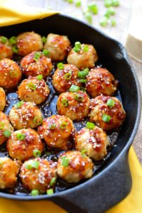 Kung Pao Chicken Meatballs by Fit Foodie Finds