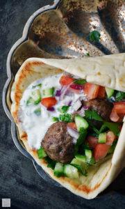 Mediterranean Meatball Gyros Sandwich by Life Taste Good