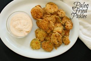 Paleo Fried Pickles by Not Too Shabby Gabby
