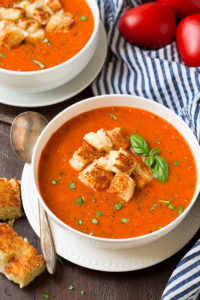 rRoasted Tomato Basil Soup by Cooking Classy