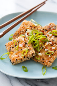 Sesame Crusted Tofu by Love & Olive Oil