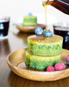 Matcha (Green Tea) Pancakes by Oh, How Civilized