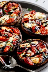 Caprese Stuffed Garlic Butter Portobellos by Cafe Delites