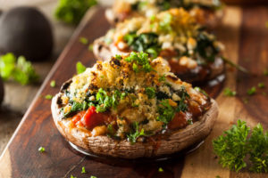 Cheesy Stuffed Portabello Mushrooms by Skinny Ms.
