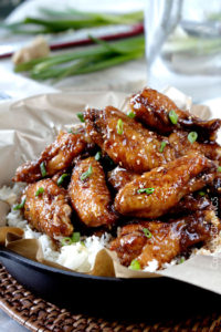 General Tso's Sticky Chicken Wings by Carlsbad Cravings