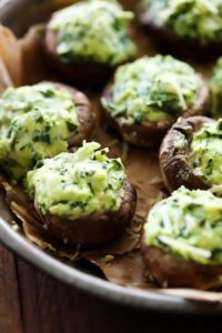 Spinach Stuffed Mushrooms by Chef in Training
