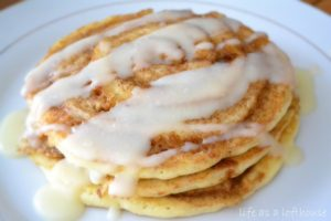 Cinnamon Roll Pancakes by Life in the Lofthouse
