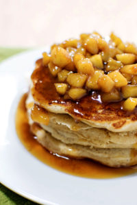 Apple Cinnamon Pancakes by Homemade Hooplah
