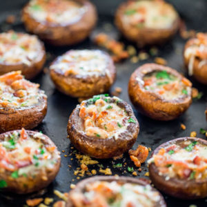 Bacon & Parmesan Stuffed Mushrooms by Jo Cooks