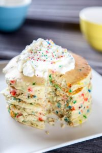Cake Batter Funfetti Pancakes by Baking Beauty