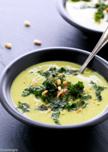 Roasted Cauliflower & Kale Soup by Cooking LSL