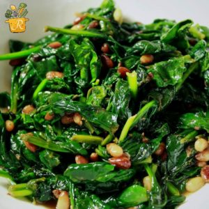 Lemon Sauteed Spinach by Dinner with the Rollos