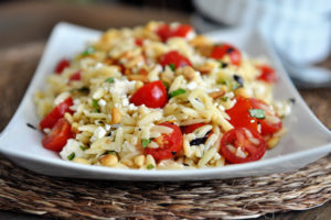 Orzo Salad with Tomatoes, Basil & Feta by Mel's Kitchen Cafe