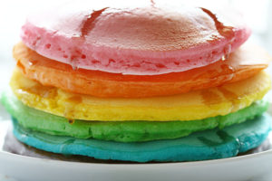 Perfect Rainbow Pancakes by I Am Baker