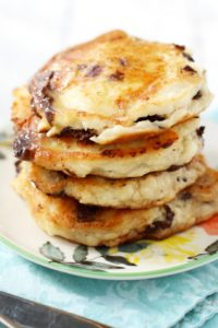 Gluten Free and Vegan Chocolate Chip Banana Pancakes by The Pretty Bee