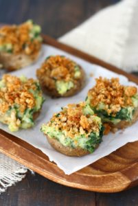Vegan Stuffed Mushrooms by The Pretty Bee