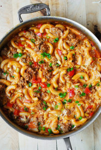 One-Skillet Mac & Cheese with Sausage & Bell Peppers by Julia's Album