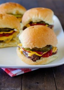 Cheeseburger Sliders by Life in the Lofthouse