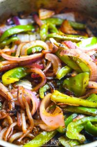 Copycat Chipotle Grilled Peppers and Onions by Layers of Happiness