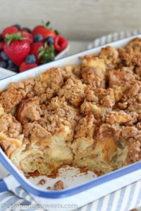 Cinnamon Vanilla Baked French Toast by Celebrating Sweets