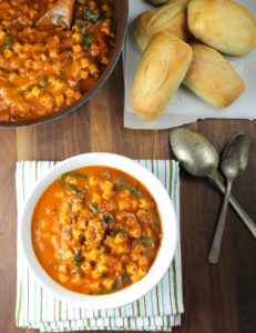 Italian Sausage Pasta Soup by Miss in the Kitchen