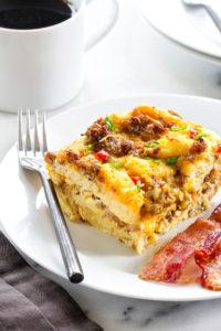 Make-Ahead Breakfast Casserole by My Baking Addiction
