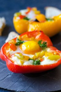 Potato and Egg Stuffed Peppers by Give Recipe