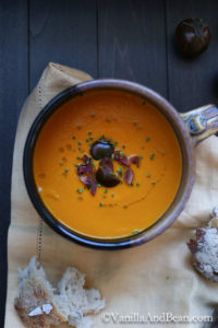 Roasted Bell Pepper and Heirloom Tomato Soup by Vanilla and Bean