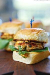 Grilled Thai Spice Chicken Sliders by Marla Meredith
