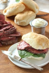 Beef Tenderloin Sliders with Horseradish Sauce by Kitchnn