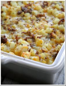 Cheesy Potato Breakfast Casserole by Doughmesstic