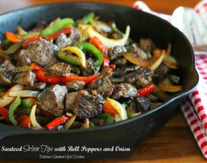 Sauteed Sirloin Tips with Bell Peppers and Onions by Melissa's Southern Style Kitchen