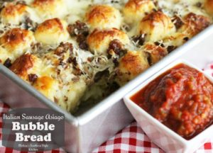 Italian Sausage Asiago Bubble Bread by Melissa's Southern Style Kitchen