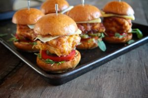 Honey Mustard Fried Chicken Sliders by Shutterbean