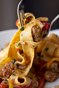 Italian Drunken Noodles by What2Cook