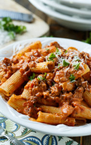 Italian Sausage Rigatoni with Spicy Cream Sauce by Spicy Southern Kitchen