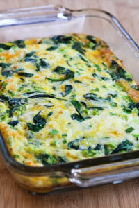 Spinach & Mozzarella Egg Bake by Kalyn's Kitchen