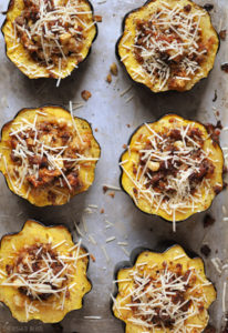 Sausage & Apple Stuffed Acorn Squash by Cherished Bliss