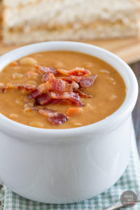 Homemade Bean and Bacon Soup by Taste and Tell