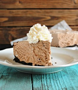 Frozen Hot Chocolate Cheesecake by Chelsea's Messy Apron
