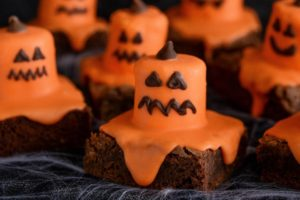 Melted Jack O' Lantern Brownies by Imperial Sugar