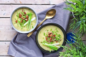 Leek and Potato Soup by Contentedness Cooking