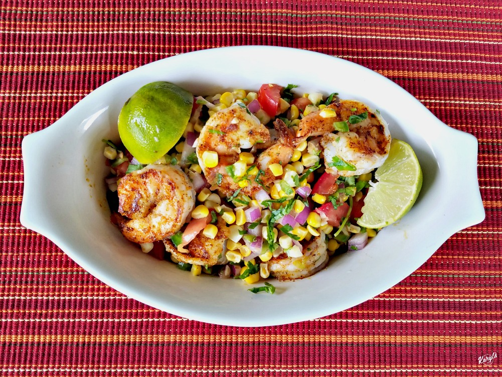 Spicy Grilled Shrimp with Corn Salsa - Karyl's Kulinary Krusade