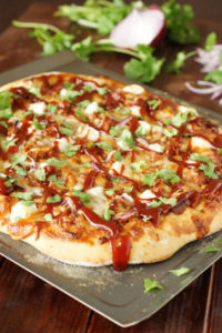 Sweet & Spicy Pulled Pork BBQ Pizza by The Kitchen Is My Playground