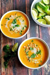 Thai Coconut Curry Butternut Squash Soup by Host the Toast