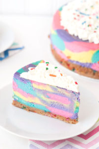 Tie Dye Cheesecake by Sprinkles for Breakfast