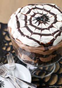 Chocolate Spider Trifle by Lil' Luna
