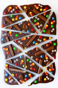 Halloween Candy Bark by Just a Taste