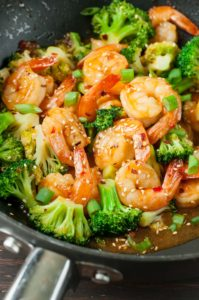 Szechuan Shrimp and Broccoli by Peas and Crayons