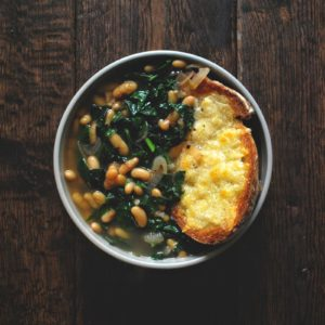 Tuscan Kale, White Bean and Bread Soup by Drum Beets